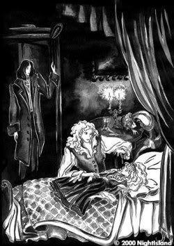 Lestat turning Claudia into a vampire