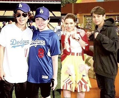 Max Russo and Harper Finkle / Jake T Austin and Jennifer Stone