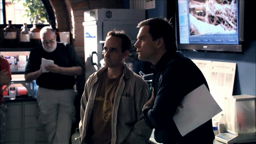 Michael Weatherly wallpaper probably with a diner, a street, and a sign entitled Michael BTS NCIS