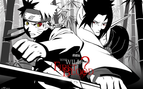 Naruto Shippuuden wallpaper containing anime called Naruto vs. Sasuke