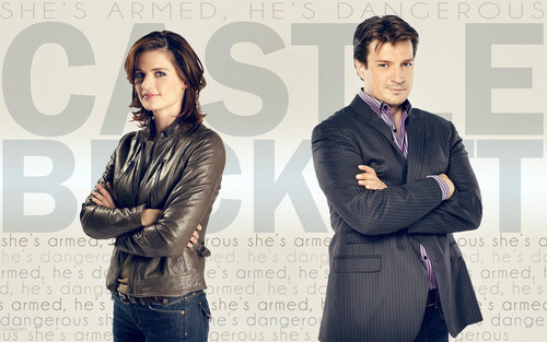 Nathan Fillion & Stana Katic karatasi la kupamba ukuta with a business suit, a well dressed person, and a suit titled Nathan & Stana