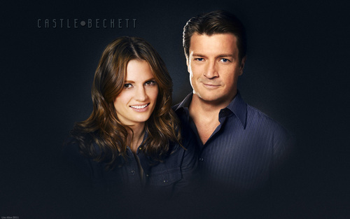 Nathan Fillion & Stana Katic wallpaper containing a well dressed person, a business suit, and a suit titled Nathan & Stana