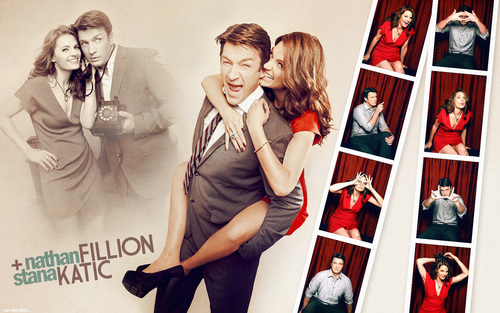 Nathan Fillion & Stana Katic wallpaper entitled Nathan & Stana