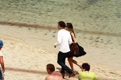 Nina with Ian Behind the scenes