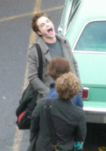 Old foto of Robert on the set of Twilight