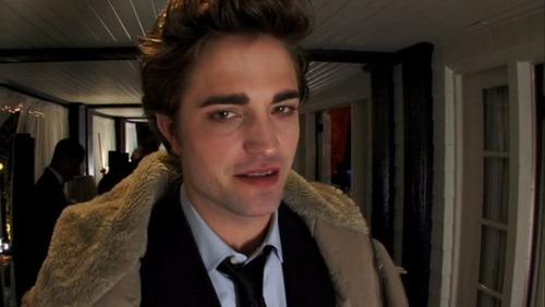 Old photos of Robert on the set of Twilight