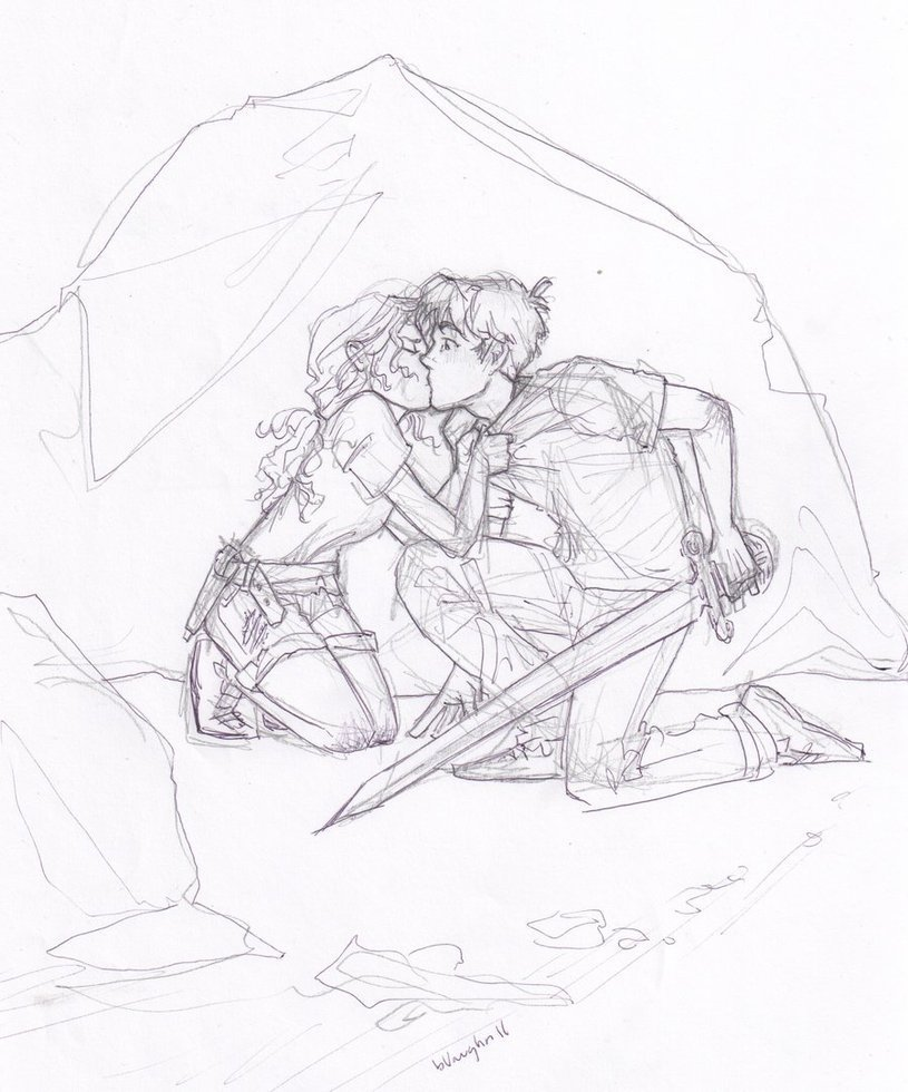 Percabeth kiss!