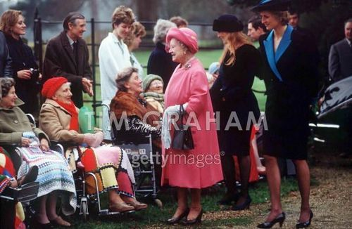 Princess Diana And Duchess Of York At Sandringham