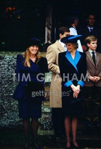 Princess Diana And Duchess Of York At Sandringham