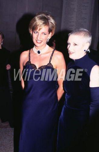 Princess Diana With Her Friend Liz Tilberis