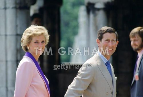 Princess of Wales during a trip to Budapest, Hungary