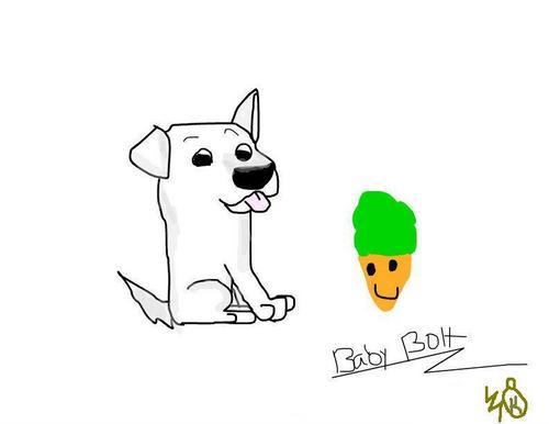 کتے Bolt number one fanart