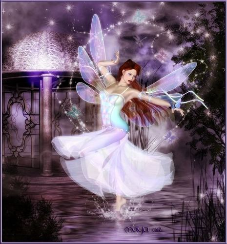Fairies wallpaper probably containing a fountain titled Magical Fairy