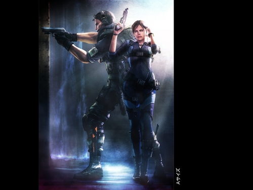 Resident Evil wallpaper with a rifleman, a navy seal, and a green beret entitled Resident Evil Revelations