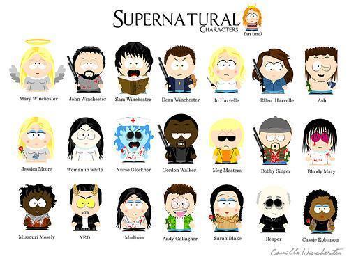 supernatural fondo de pantalla called SPN: South Park style