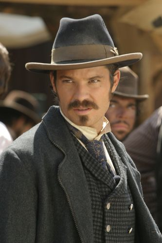 Deadwood wallpaper with a fedora called Seth Bullock