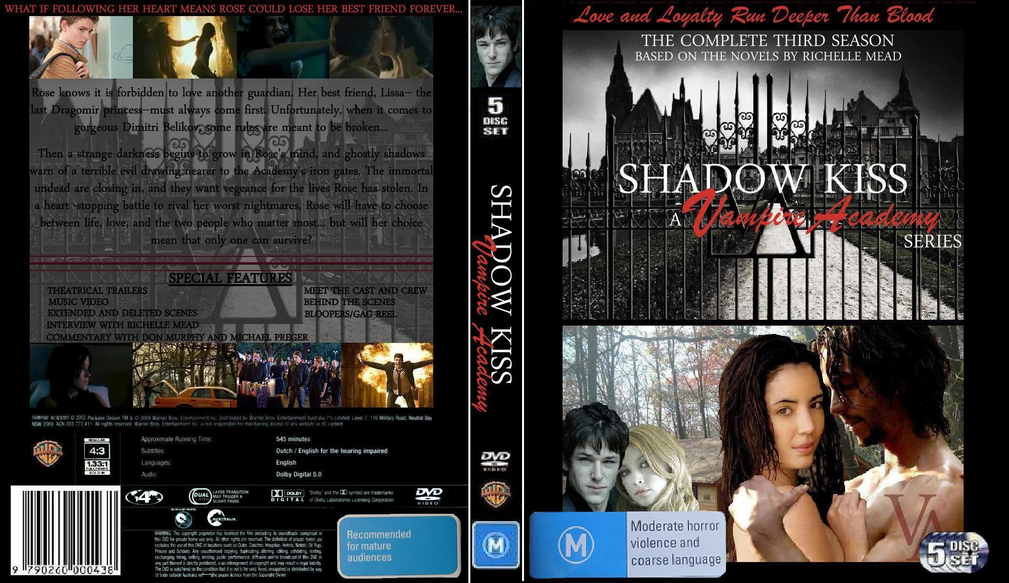 Vampire Academy Dvd Cover Shadow Kiss Dvd Cover ...