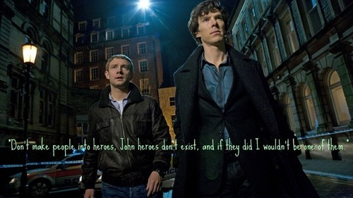 Sherlock is no hero