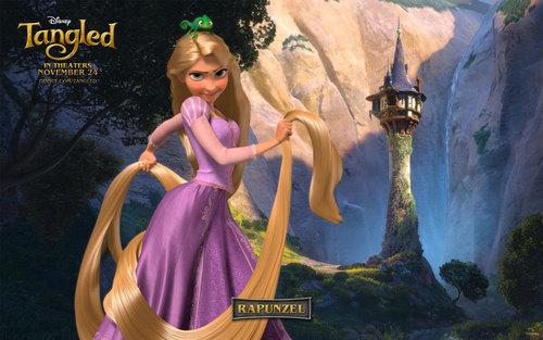 Công chúa tóc mây Disney hình nền