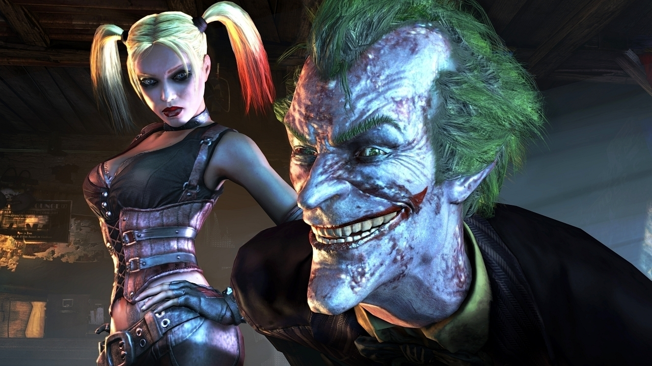 joker and harley quinn arkham city