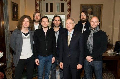 The Killers with senator Reid