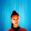Zoë Saldaña as Uhura foto with a portrait entitled Uhura