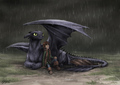 Under my wing - how-to-train-your-dragon fan art