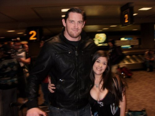 Wade Barrett with a Fan