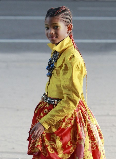 Willow Smith on the set of her new song 21st Century Girl