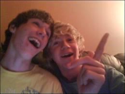 Niall Horan wallpaper containing a portrait entitled niall and sean:)<3xxxx