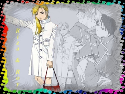 Riza Hawkeye Anime/Manga wallpaper called riza and roy