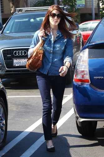 12 more MQ different shots of Ashley Greene out and about in LA  yesterday (March 10)