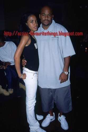 Aaliyah with Damon *rare photos*
