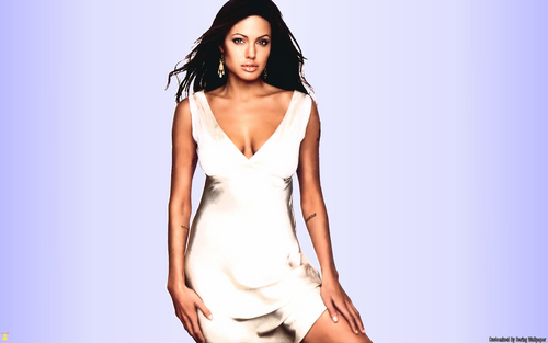 Angelina Jolie wallpaper possibly with a cocktail dress, a chemise, and a chemise entitled Angelina Jolie Wallpaper