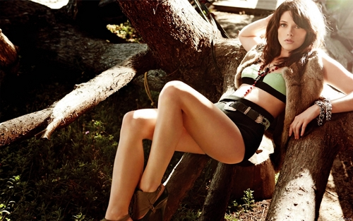 Ashley Greene wolpeyper with bare legs and a hip boot titled Ashley <3