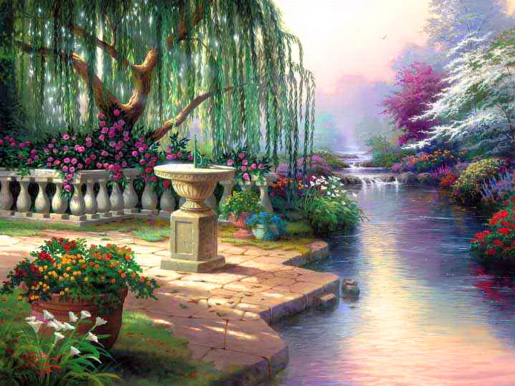 Daydreaming images beauty of nature hd wallpaper and for Garden painting images