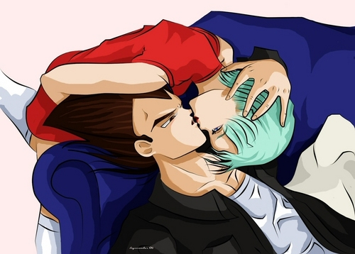 Bulma and Vegeta Kiss - vegeta-and-bulma Photo
