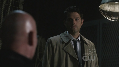 Castiel is tall like a building