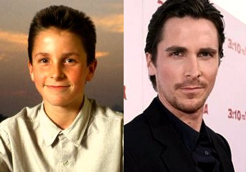Christian Bale - now & then