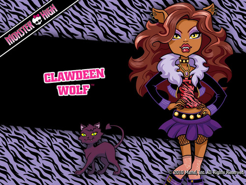Monster High wallpaper with anime titled Clawdeen Wolf Wallpaper 1024x768 & 800x600