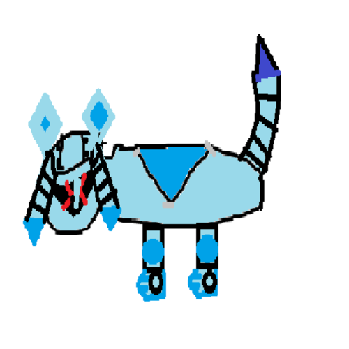 Cyber Glaceon (AKA Metal glaceon)