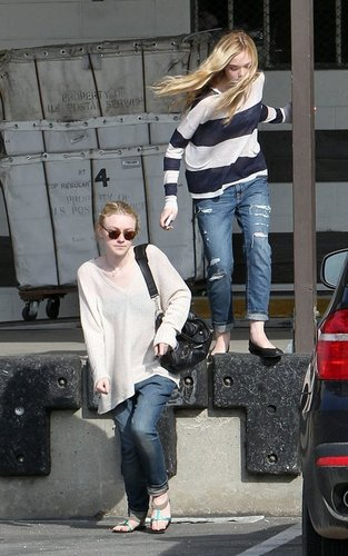 Dakota and Elle Out in West Hollywood -March 12, 2011