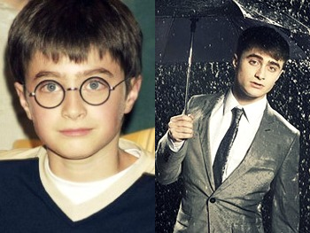Daniel Radcliffe - now & then