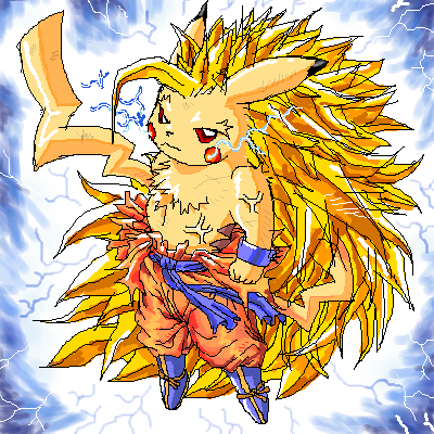 Dragon Ball-Z Pikachu