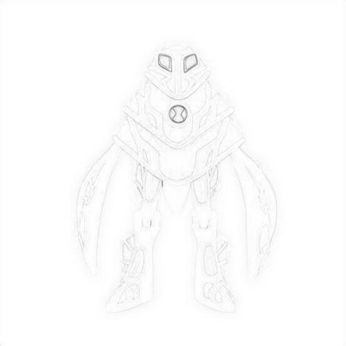 Ben 10 Ultimate Alien Wallpaper Entitled Drawing Of Ampfibian