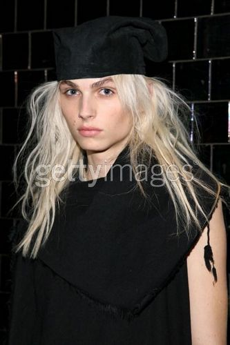 andrej pejic wallpaper probably containing an academic toga, abito titled Fall 2011 Mercedes-Benz Fashion Week