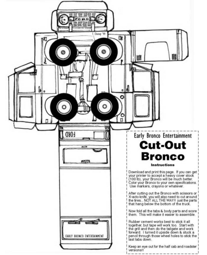 Ford Bronco paper model