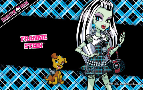 Monster High پیپر وال containing a chainlink fence called Frankie Stein پیپر وال 1280x800