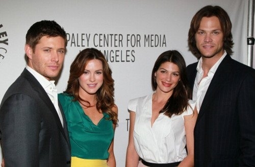 Jared Padalecki & Genevieve Cortese 壁紙 with a business suit entitled Gen & Jared Padalecki 2011
