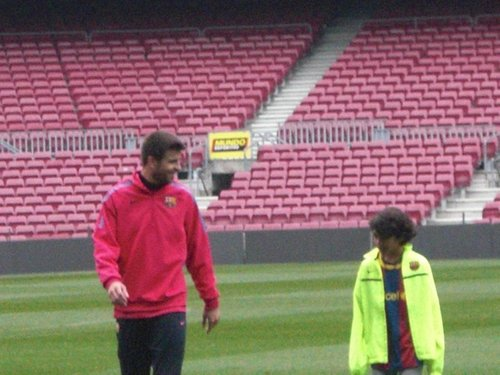 Gerard Piqué and Tarik Mebarak